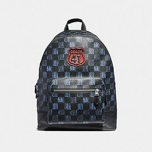 Coach Graphic Checker Print West Men's Backpack